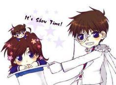 Kaito and Aoko and Conan <3