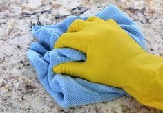How to Clean Granite Countertops || To clean stained granite countertops | For a water stain, mix the baking soda with a small amount of hydrogen peroxide. For an oil-based stain, mix the baking soda with water.