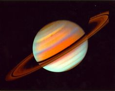 The planet Saturn, photographed by the Voyager 1 space probe on October 18, 1980. (NASA)