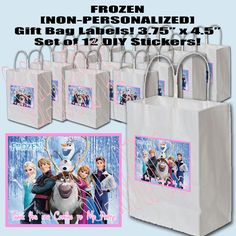Frozen Party Bag Fillers Large Badge Girls Party Bag Fillers Prizes *FREEPOST*