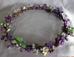 Lavender Violet  Hair Wreath