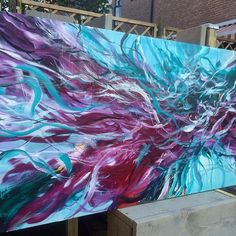 """"""" I will keep coloring your dreams"""" by @Paschamo (motuncay.com) large acrylic painting 70x140cm #artist #flaming_abstracts #abstractart #artworks #interiordesign #interior #interiors #abstractart #design #artoftheday #artofinstagram #modernart #painter♥•♥•♥"""