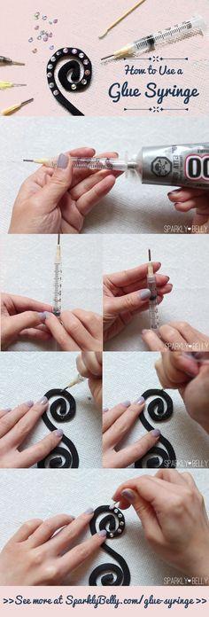 Cómo utilizar un pegamento Jeringa - aplicador de strass