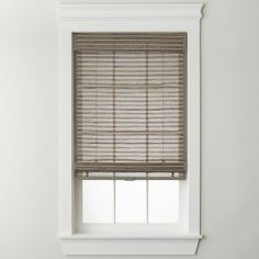 The jcp home natural woven bamboo roman shade gives you a clean, uncluttered look. It's great for hard-to-fit windows.