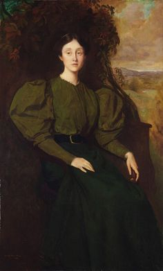 George de Forest Brush (1855-1941), Portrait of Miss Polly Cabot, 1896; Oil on canvas, 55.9x93 cm