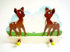 Vintage Nursery Coat Rack Hooks   Childrens Decor by CrolAndCo, $26.00