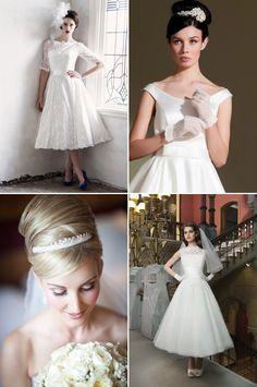 Your Guide To Vintage – 1940s & 1950s | weddingsonline Ingrid Bergman, Jessica Rabbit, Elizabeth Ii, Fur Vintage, Vogue Cover, Bridal Elegance, Wedding Dresses 2014, Pictures To Draw, One Shoulder Wedding Dress