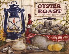 """""""Oyster Roast"""" Fine Art Print by Kate McRostie."""