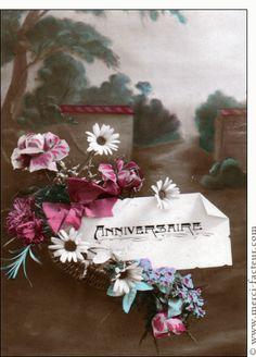 1000 images about anniversaire carte ancienne on for Envoyer fleurs par internet