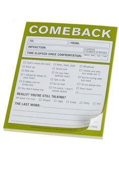 Comeback Notepad
