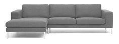 Biki Contemporary Corner Sofa Dark Grey