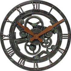Add a dash of industrial appeal to any room with the Oxidized Gears Wall Clock by FirsTime & Co.® Featuring a look of oxidized metal and a patina finish, t Vintage Industrial Furniture, Industrial House, Industrial Style, Industrial Design, Teal Wall Clocks, Gear Clock, Wall Clock Online, Teal Walls, Patina Finish
