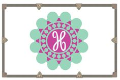 Wall Decal/Yeti Decal/ Camp Trunk Decals/ Vinyl Sticker/ Circle Dot Monogram/ Cursive Monogram by RusticGraceCo on Etsy