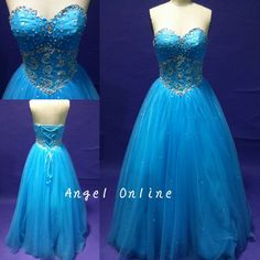 Royal Blue Prom Dresses.Ball Gown Prom Dresses.Cheap Prom Dresses.Sweet 16 Dresses.Cheap Homecoming Dresses.Long Prom Dresses.Evening Dress by Angelonlinedress on Etsy