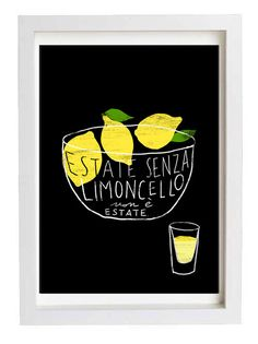 LIMONCELLO 11x15 Italy Print  Reproduction From Original by anek, $38.00