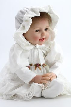 Soft Silicone Reborn Baby Dolls Realistic Lifelike Newborn Babies for Girls White Dress Vintage Baby Kids Christmas Gifts Christmas Gift Pictures, Christmas Gifts For Kids, Silicone Reborn Babies, Reborn Baby Dolls, Silikon Wiedergeborene Babys, Girls White Dress, Newborn Babies, Old Dolls, Dress Vintage