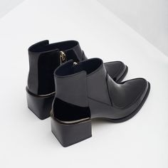 HIGH HEEL PATENT BOOTIES-View all-Shoes-WOMAN   ZARA United States