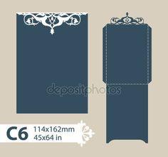 Descargar - Envolvente de felicitación de plantilla con el patrón calado tallado — Ilustración de stock #105813066