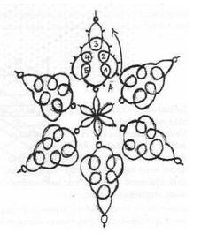 Free Tatting Patterns Beginners | German Snowflake