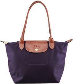 Longchamp Le Pliage Medium Monogramm Shoulder Tote Bag, Bilberry
