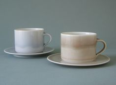 ice and smog teacups and saucers | james and tilla waters
