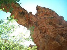 Devil's Bridge in Sedona. I could see Aran swordsmen practicing on natural bridge formations like this.