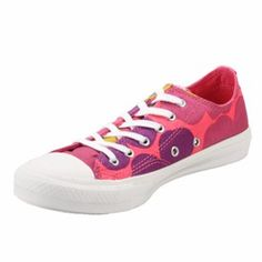Make yourself just a little cuter with these pink and purple low tops! You know you can trust the name of Converse, they've been in the front of fashion for forty years! With the reliability of strong Canvas and Vulcanized rubber, you can rely on these shoes to take you anywhere in any weather!