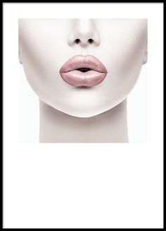 Photo art of a woman with pink lips.