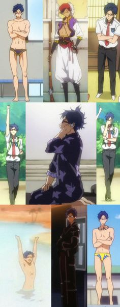 Rei Ryugazaki Anime Love, Anime Guys, Free Eternal Summer, Splash Free, Makoharu, Free Iwatobi Swim Club, Kyoto Animation, Swim Team, Free Anime