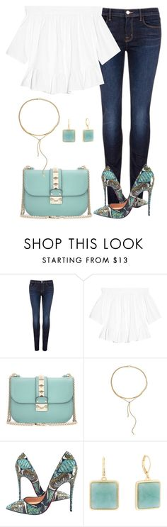 """""""Fresh"""" by jennsprettylittlefriend ❤ liked on Polyvore featuring J Brand, Elizabeth and James, Valentino, Michael Kors, Christian Louboutin and Monet"""