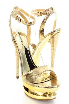 Gold Faux Snake Leather Stack Platform Open Toes Heels http://www.amiclubwear.com/shoes-heels-op-hudson-05gold.html#