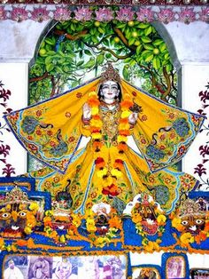 Vrinda Devi Tulasi -Vrndavani – One who first manifested in Vrindavan. Vrnda – The goddess of all plants. Visvapujita – One who the whole universe worships. Puspasara – The topmost of all flowers, without whom Krishna does not like to look upon other flowers. Nandini – She gives happiness to everyone. Krsna-Jivani – The life and soul of Lord Krishna. Visva-Pavani – One who purifies the three worlds. Tulasi – One who has no comparison.