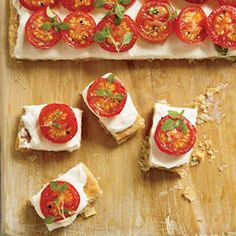 These luscious little tarts are filled with fresh ricotta and topped with oven-roasted tomatoes. The trick to making the cheese silky is to puree it before spreading it on the flaky pastry. Recipe: Tomato Tartlets   - Delish.com