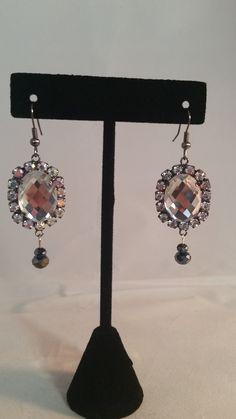 Rhinestone Drop Earrings