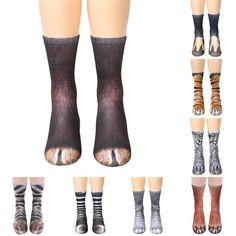 c83184463 Animal Paw Crew Socks Sublimated Print Men   Women