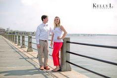 southern engagement session at the battery in charleston, sc