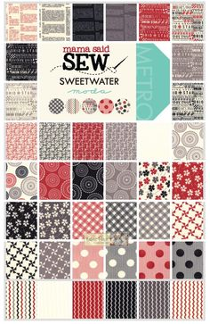 -Mama Said Sew Charm Square - Patchwork & Quilting Fabric - $15.00 : Fabric Patch, Patchwork Quilting fabrics, Moda fabric, Quilt Supplies, Patterns