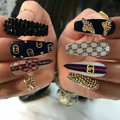 We have collected 130 + elegant Rhinestones coffin nails for you. Enjoy these be. - We have collected 130 + elegant Rhinestones coffin nails for you. Enjoy these beautiful nail art an - Bling Nails, Glam Nails, Dope Nails, Stiletto Nails, Fun Nails, Coffin Nails, Aycrlic Nails, Beauty Nails, Cardi B Nails
