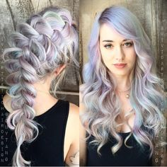 Pastel hair color is always a good choice! More at http://www.hairchalk.co/ #haircolor #hairdye #hairchalk ich liebe diese Pastellfarben