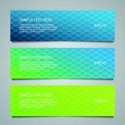 Shiny honeycomb banner design vectors 02
