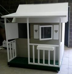 put shutters on girls playhouse - playhouse : shutters, flower box, fence, window