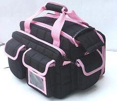 New Lady's Black-Pink Ultimate Tactical Range Bag Gun Case Woman's Hunting Bag
