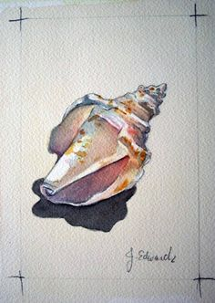 ideas painting watercolor sea watercolour for 2019 Watercolor Ocean, Watercolor Artists, Watercolor Animals, Watercolor And Ink, Watercolour Painting, Painting & Drawing, Seashell Painting, Large Painting, Guache
