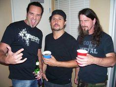 Drummers for SLAYER! Jon D, Dave Lombardo, Paul B. \m/