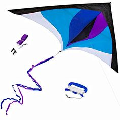 Best Delta Kite for Kids  Adults  Easy to Fly  Large 60 across with Long 85 Tail Ribbons  Superb Flyer  Vivid Colors  Top Quality Materials  Stunning Design -- You can get additional details at the image link. Note:It is Affiliate Link to Amazon.