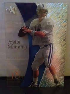 1998 E-X2001 #54 Peyton Manning Rookie Card Team: Indianapolis Colts #IndianapolisColts