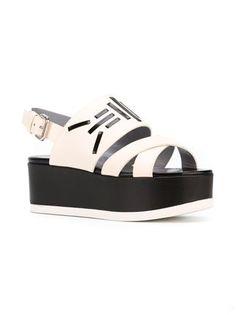 Pollini slingback platform sandals