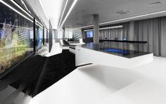 futuristic room Office Interior Design, Office Interiors, Home Interior, Office Designs, Futuristic Interior, Futuristic Design, Habitat For Humanity, Home Staging, Internal Design