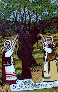 Greek Art, Olive Tree, Naive, Disney Characters, Fictional Characters, Autumn, Disney Princess, Painters, School