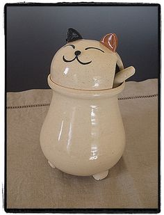 Kitty Cat Sugar Bowl